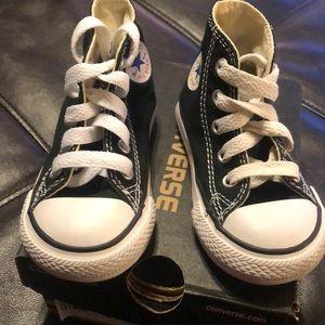 Converse infant size 5 black